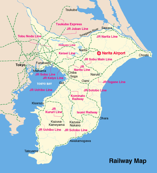 Railway Map Details CHIBAJAPAN TRAVEL GUIDE